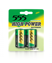 D SIZE R20P HEAVY DUTY CARBON ZINC BATTERIES HIGH POWER METAL JACKET