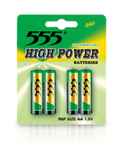 AA R6P HEAVY DUTY CARBON ZINC BATTERIES HIGH POWER METAL JACKET