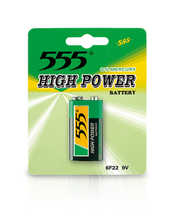 9V HEAVY DUTY CARBON ZINC BATTERIES HIGH POWER METAL JACKET