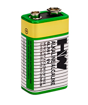 HW BRAND ALKALINE BATTERY 6LR61 6AM6 SIZE