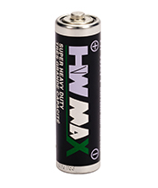 HW BRAND CARBON ZINC BATTERY ER6M AA SIZE METAL JACKET