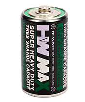 HW BRAND CARBON ZINC BATTERY ER20M D SIZE METAL JACKET