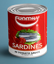CANNED SARDINES IN TOMATO SAUCE 155g & 425g